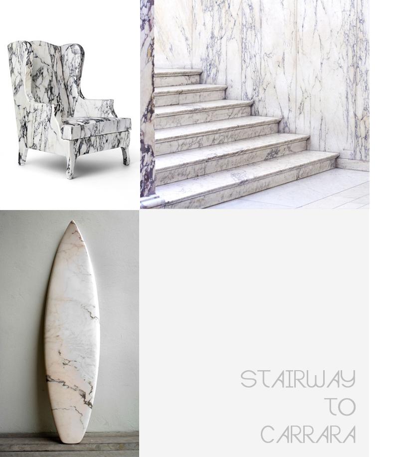 Stairway to carrara for Marmol de carrara