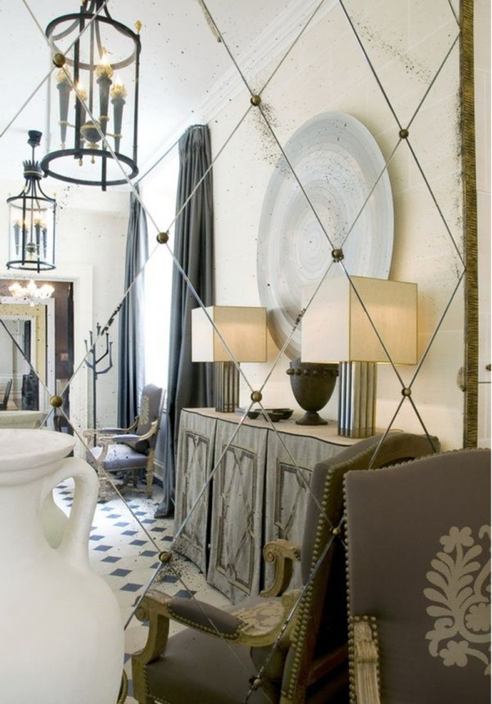 espejos anticados los espejos siempre nos ayudan a dar profundidad cubriendo muros con espejo damos una sensacin de amplitud el espejo anticado como lo